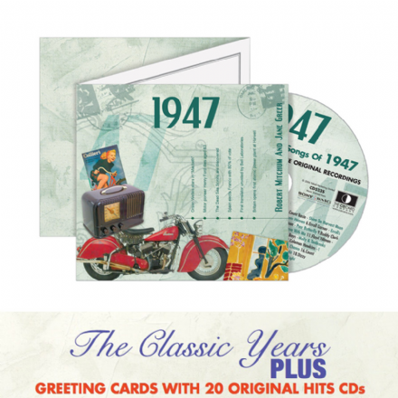 1940 to 1949  The Classic Years CD Greeting Card.